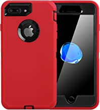 RENKUNDE Shockproof Protective Tempered Glass Phone Case for iPhone X 5.8 XS MAX 6.5 XR 6.1 5 5S SE 6 6S 7 8 Plus Cases Capa On 7 8 Plus Phone case Color : 1, Size : for 6Plus 6s Plus