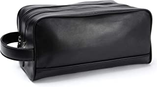 Leatherology Black Onyx Double Zip Toiletry Bag