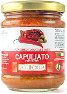 Imported sun dried tomatoes patè Capuliato - Artisan Made in Sicily with Extra Virgin Olive Oil
