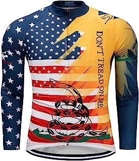 Men's Cycling Jerseys Tops Biking Shirts Long Sleeve Full Zipper Pocket USA