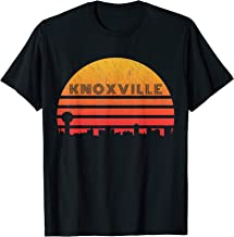 Vintage Retro Sunset Knoxville Tennessee Skyline T-Shirt