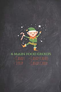 4 Main Food Groups - Candy Corn Cane Syrup Christmas Elf Journal