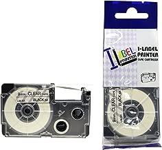 LM Tapes - Casio KL-60 9mm Black on Clear Compatible Label Tape for Casio KL60 EZ Label Printer