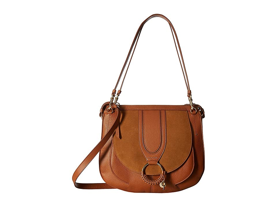 See by Chloe Hana Large Suede Leather Tote (Caramello) Tote Handbags
