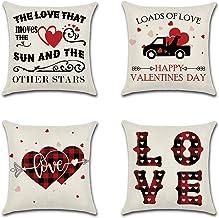 Throw Pillow Case Cushion Cover Linen Home Decorative Ocean Theme 18x18in (Love)