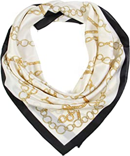 Scarfand's Satin Silk Feel Square Scarves Various Print Collection