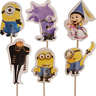 Party2u Los Minions Decoracion Torta Cupcake Pics Topper (24