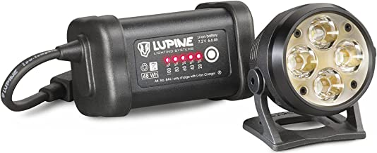Lupine Lighting Systems Wilma R 7 Helmet Light, 3200 Lumens, LED, Bluetooth Control, Rechargeable 6.6 Ah SmartCore Lithium-ion Battery