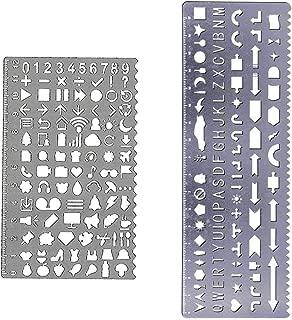 Letter Number Metal Template Set, JoyTong Drawing Planner Stencil