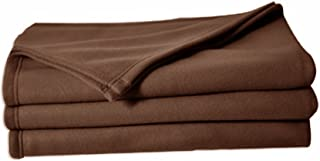 POYET MOTTE POLECO Couverture polaire Polyester Chocolat 220 x 240 cm