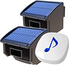 Htzsafe Solar Wireless Driveway Alarm System-1/4 Mile Long Transmission Range-Solar Powered No Need Replace Batteries-Outd...