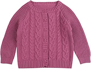 Winter Knitted Baby Girl Sweater Autumn Twist Cardigan Sweaters Cotton Infant Girls Cloths 3-18 Months