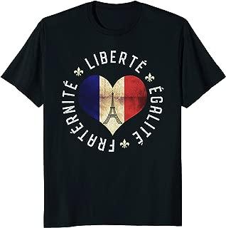 Bastille Day 2018 Shirt Liberte Egalite Fraternite Flag