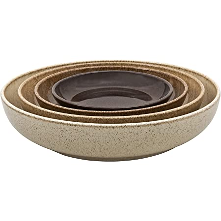 Denby Studio Craft 4 Piece Nesting Bowl Set, One size, brown earthy