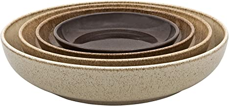 Denby CRFT-NEST4 Studio Craft 4 Piece Nesting Bowl Set, One size, brown earthy