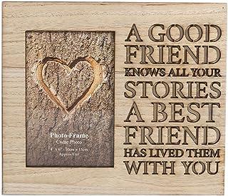 Marco de fotos de madera letras en~Friends 4 x 6