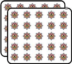 Fife Fire Rescue Service Crest Shaped (Badge UK Firefighter) Sticker for Scrapbooking, Calendars, Arts, Kids DIY Crafts, Album, Bullet Journals 50 Pack