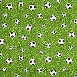 Fabulous Fabrics Dekostoff Ottoman Fußballfeld – grün — Meterware ab 0,5m — zum Nähen von Kissen, Stühle und Kinder