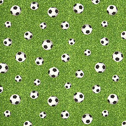 Dekostoff Canvas Fußballfeld – grün — Meterware ab 0,5m — zum Nähen von Kinder Deko, Babydekoration & Kissen/Tagesdecken