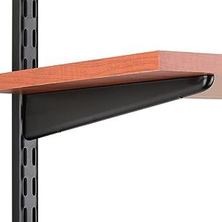 Knape & Vogt John Sterling Dual Trak Adjustable Wood Shelf Bracket, 11-Inch, Black, 0122-11BK