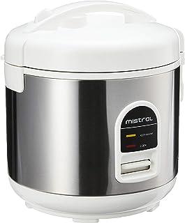 Mistral MRC101 Rice Cooker, 1.0L, silver