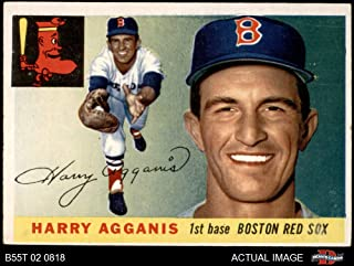 1955 Topps # 152 Harry Agganis Boston Red Sox (Baseball Card) Dean's Cards 4 - VG/EX Red Sox