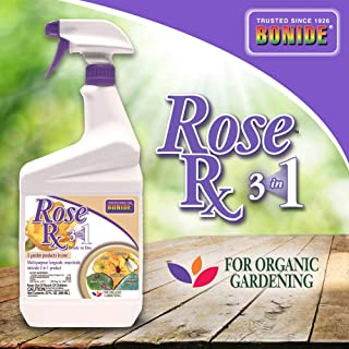 Bonide (BND897) - Rose Rx 3 in 1, Ready to Use Multi-purpose Insecticide, Fungicide and Miticide (32 oz.)