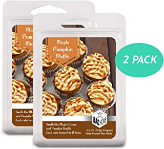 BAC Home Maple Pumpkin Muffin Soy Blend Scented Wax Cube Melts, 2.5 oz, [6 Cubes] (2)