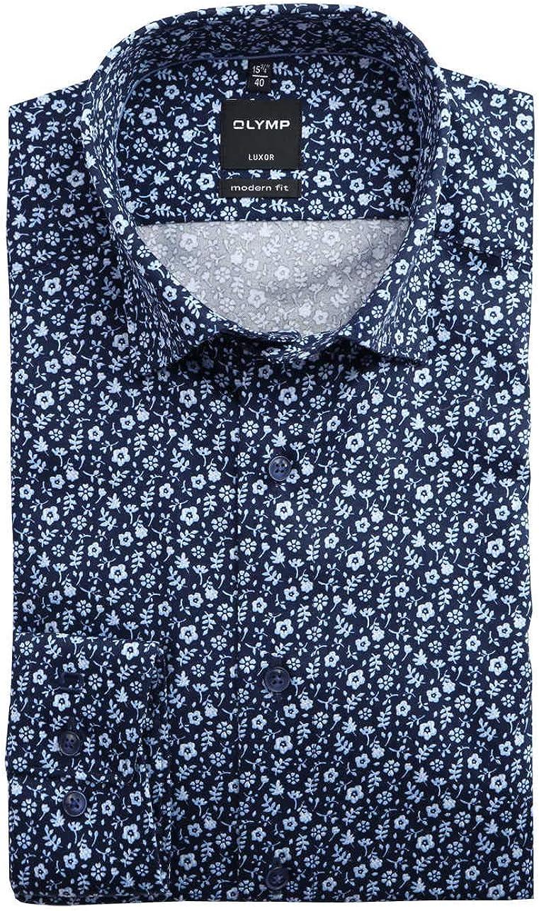 OLYMP Camisa de manga larga para hombre, de lujo, monocolor ...