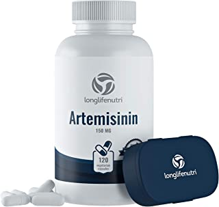 Artemisinin 150mg - 120 Vegetarian Capsules | Made in USA | 4 Months Supply | Supports Healthy Aging and Ce...