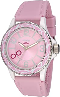 Moog Paris Huit Women's Watch with Black/White/Red/Purple/Blue/Pink Dial, Black/White/Red/Purple/Blue/Red/Pink Strap in Silicon