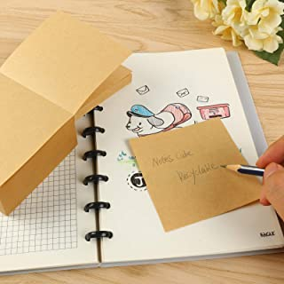 Eagle Memo Pads (Not-Sticky),100% Recyclable Kraft Paper Note Cube, 500 Sheets/Pad Tear-off Pages, for Note-taking, Remind...