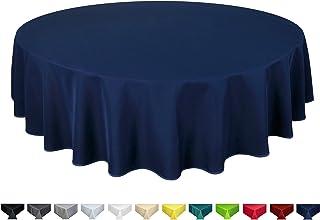 Home Direct Mantel 100% poliéster, Redondo 140cm Azul Marino