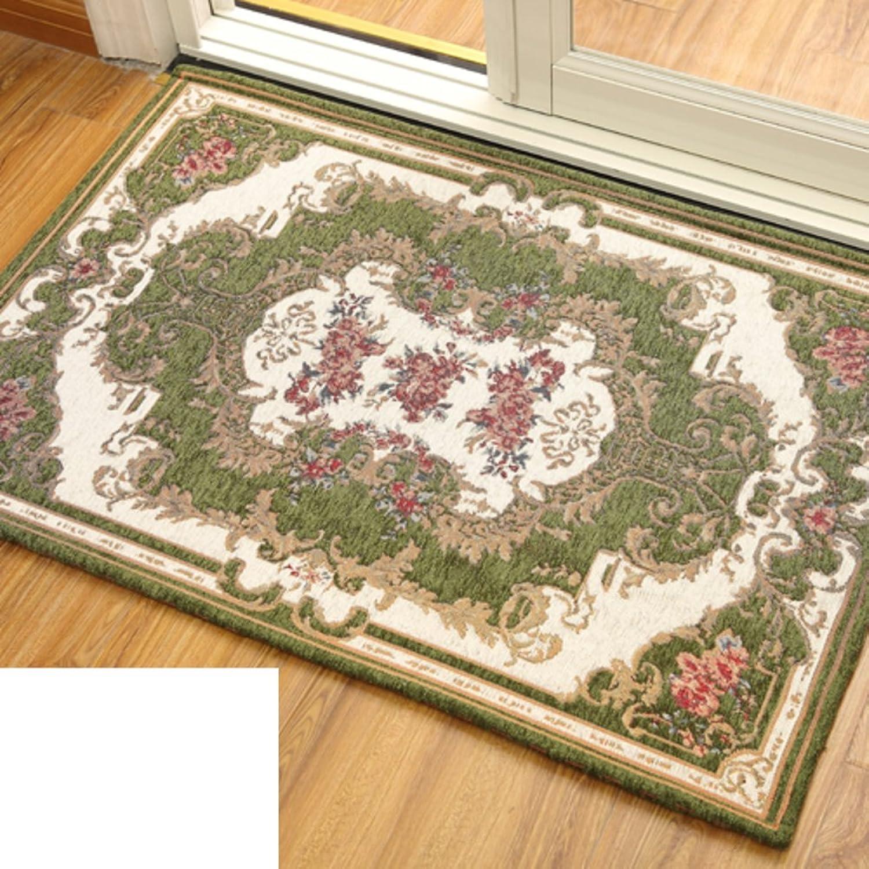 European-Style Floor Mats Doormat Door,Indoor Mats Entrance,Hall,Living Room,Bedroom,Bathroom,Absorbent Non-Slip Mat-D 80x120cm(31x47inch)