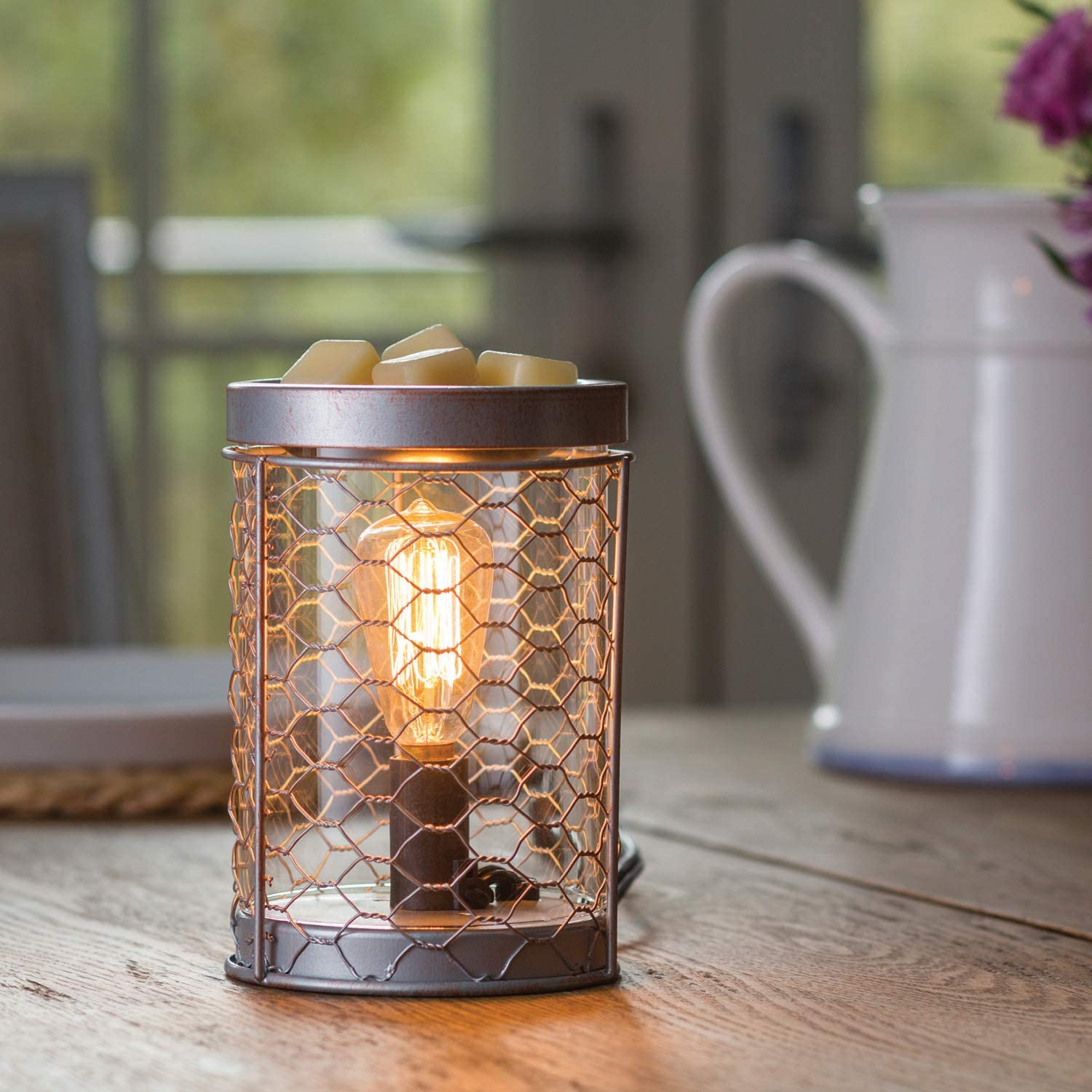 Candle Warmers Etc Edison Bulb Illumination Fragrance Warmer Light Up Warmer For Warming Scented Candle Wax Melts And Tarts Or Essential Oils To Freshen Room Arbor Amazon Co Uk Kitchen Home