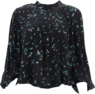 Luxury Fashion | Ganni Womens F3757VERDANTGREEN829 Black Blouse | Autumn-Winter 19