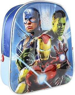 Mochila Infantil 3D Avengers con Detalles Metalizados-Licencia Oficial de Marvel Studios, The Spiderman de Color Azul Unisex niños, Multicolor, 260X310X100MM