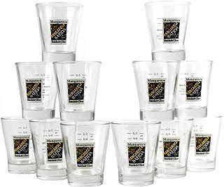 Batida de Coco MANGAROCA Shot Gläser 12er Set geeicht Stamper Likör-Glas mit Rezept-Aufdruck ~mn 1050 1285