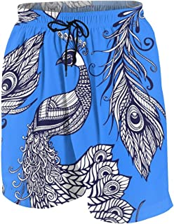 Portrait Collection Men's Swim Trunks Summer Teen Beach Pants Quick Dry Board Shorts Bathing Suit