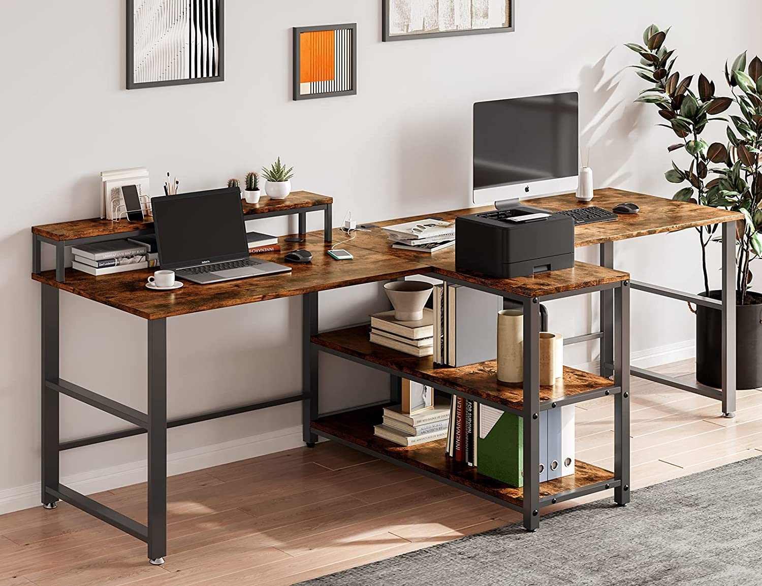 94.5 Long-awaited inches Choice Computer Desk for Person Two Double Monit with