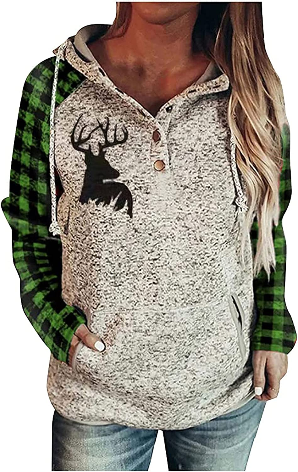 Christmas Sweaters for Girls- Hoodie Plaid Popular product Sales results No. 1 Sweatshirt