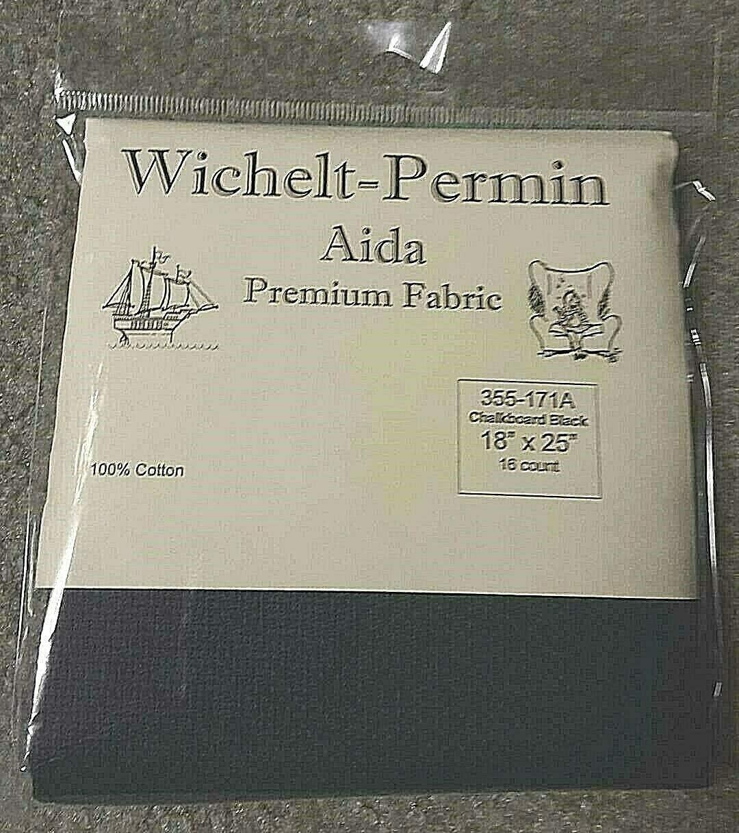Wichelt Permin Premium High material AIDA Cross Chalkbo 16 Super sale period limited Fabric Count Stitch