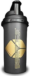 comprar comparacion La proteína agitador / proteína con tapón de rosca y el colador. 700 ml, Oro-Negro, VASO MEZCLADOR, BBGenics