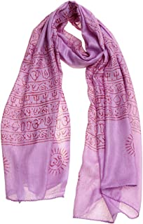 Women's Printed Ohm Prayer Meditation Yoga Scarf