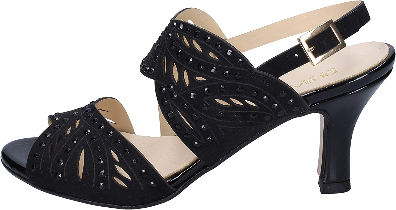 OLGA RUBINI Sandals Womens Suede Black