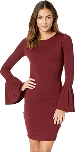 Bell Sleeve Cuff Dress
