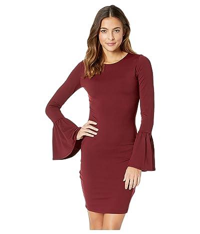 Susana Monaco Bell Sleeve Cuff Dress (Oxblood) Women