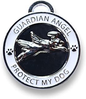 Luxepets Pet Collar Charm, Guardian Angel Dog, Silver