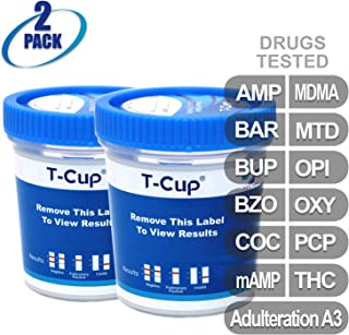 MiCare [2pk] - 12-Panel Multi Drug Test Cup (AMP/BAR/BUP/BZO/COC/mAMP/MDMA/MTD/OPI/OXY/PCP/THC with A3) #MI-TDOA-6124A3
