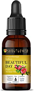 Soulflower Aroma Diffuser Oil - Beautiful Day - 100% Pure, Organic, Natural, Alcohol-Free, Chemicals Free, No Synthetic Co...